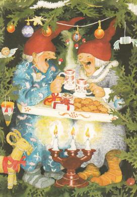 Frauen feiern Weihnachten