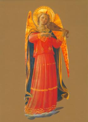 Musizierender Engel, 1433 (Birnengeige)