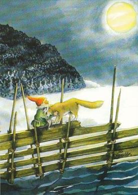 Zwerg mit Wolf