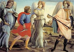 Die drei Erzengel und der junge Tobias,
